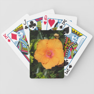 Hibiscus Orange Bicycle Playing Cards