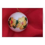 Hibiscus Ornament Card