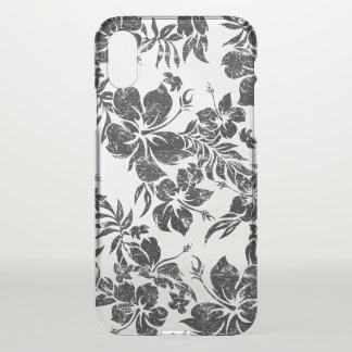 Hibiscus Pareau Hawaiian Floral Aloha - Black iPhone X Case