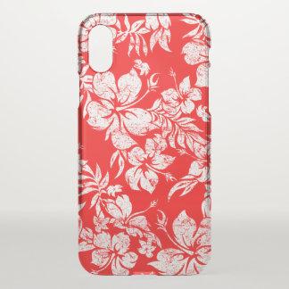 Hibiscus Pareau Hawaiian Floral Aloha - Red iPhone X Case