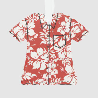 Hibiscus Pareau Hawaiian Floral Aloha Shirt Ornament