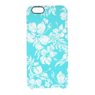Hibiscus Pareau Hawaiian Floral Aloha Shirt Print Clear iPhone 6/6S Case