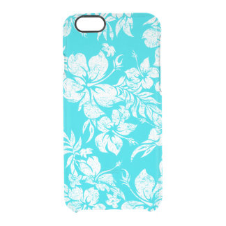 Hibiscus Pareau Hawaiian Floral Aloha Shirt Print Uncommon Clearly™ Deflector iPhone 6 Case