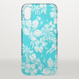 Hibiscus Pareau Hawaiian Floral Aloha - Turq iPhone X Case