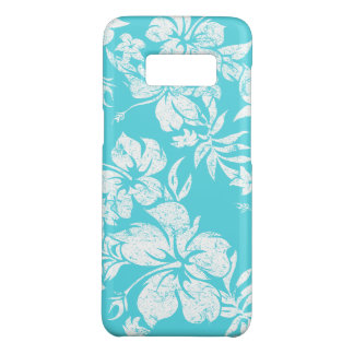 Hibiscus Pareau Hawaiian Floral Aqua Aloha Print Case-Mate Samsung Galaxy S8 Case