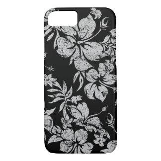 Hibiscus Pareau Hawaiian Floral Black iPhone 8/7 Case