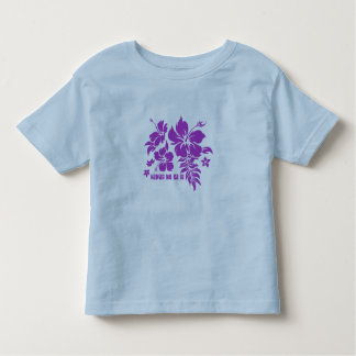 Hibiscus Pareau Hawaiian Floral in Violet Toddler T-Shirt