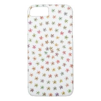 Hibiscus Pastel Floral White iPhone 7 Case