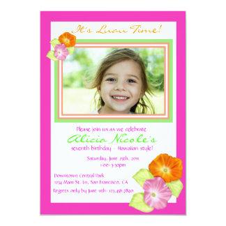 Hibiscus Photo Invitation