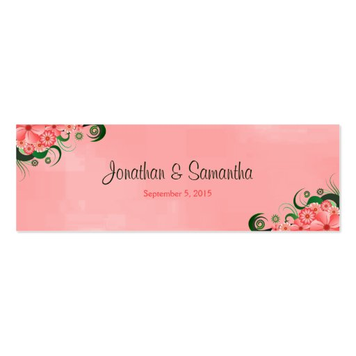 Hibiscus Pink Floral Wedding Favour Favor Tags Business Card Template
