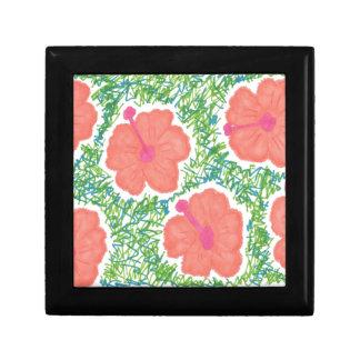 Hibiscus Pop Art Pattern Gift Box