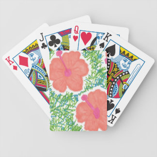 Hibiscus Pop Art Pattern Poker Deck