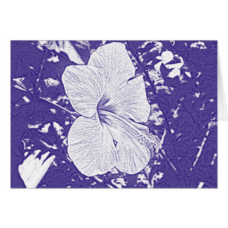 Hibiscus Print in Royal Blue Card