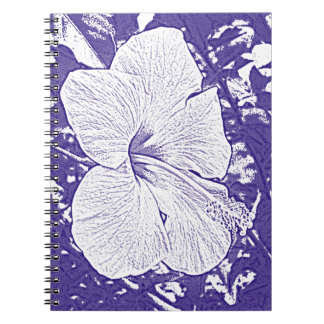 Hibiscus Print in Royal Blue Notebooks