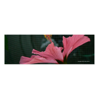 Hibiscus Profiled Bookmark Pack Of Skinny Business Cards