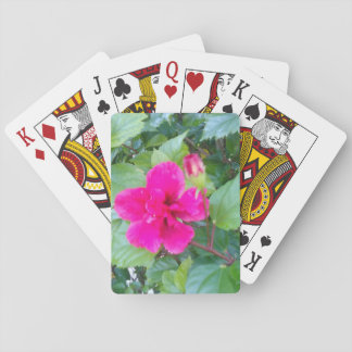 HIBISCUS RED FLOWER PLAYING CARDS