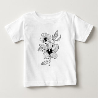 Hibiscus Rose of Sharon Flower Baby T-Shirt