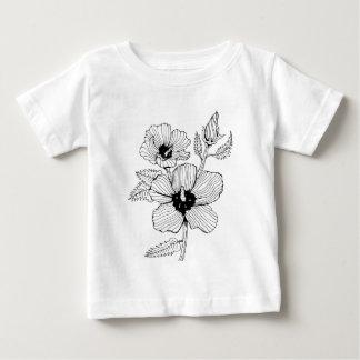 Hibiscus Rose of Sharon Flower Baby T-Shirt