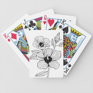 Hibiscus Rose of Sharon Flower Bicycle Playing Cards