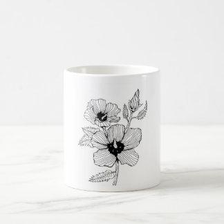 Hibiscus Rose of Sharon Flower Coffee Mug