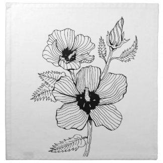 Hibiscus Rose of Sharon Flower Napkin
