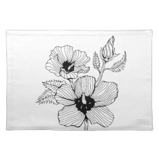 Hibiscus Rose of Sharon Flower Placemat