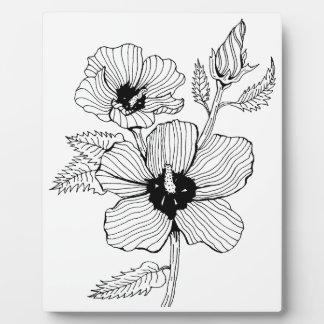 Hibiscus Rose of Sharon Flower Plaque