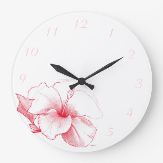 Hibiscus Sketch clock