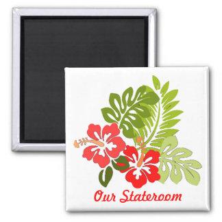Hibiscus Small Stateroom Door Magnet