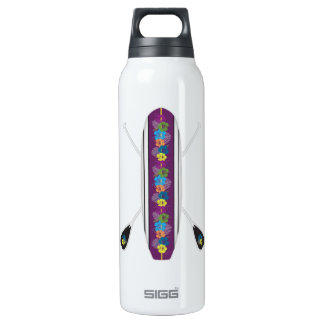 Hibiscus Stand-Up Paddle Board SUP Insulated Water Bottle