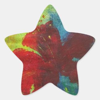 hibiscus star sticker