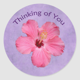 Hibiscus Thinking of You sticker