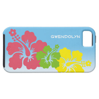 Hibiscus tropical flowers blossom trio Hawaiian Tough iPhone 5 Case