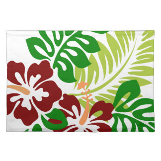 Hibiscus Tropical Flowers Placemat