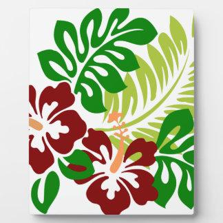 Hibiscus Tropical Flowers Plaque