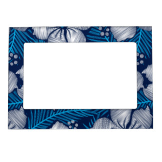 Hibiscus tropical printed embroidery magnetic picture frame