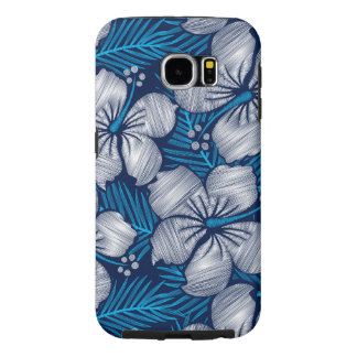 Hibiscus tropical printed embroidery samsung galaxy s6 cases