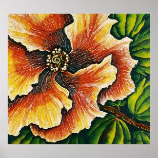 """Hibiscus Twirl"" Poster"