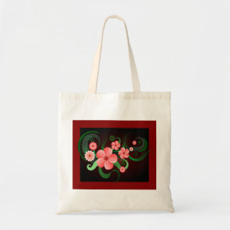 Hibiscus Vector Flower Floral Budget Tote Bags