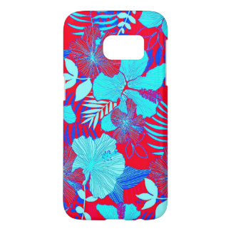 Hibiscus Vibrant Bold Colors Tropical Style Floral