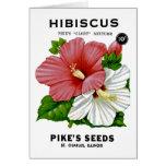 Hibiscus Vintage Seed Packet Greeting Card