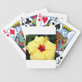 Hibiuscus Bicycle Playing Cards