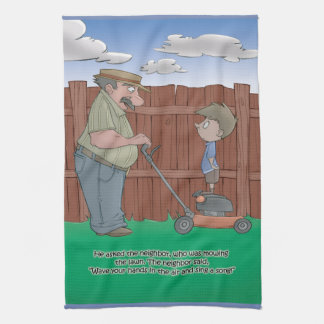 Hiccup Book kitchen towel - The Neighbor
