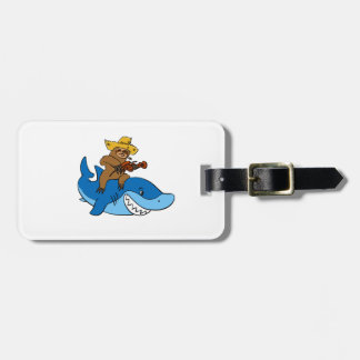 Hick sloth mounted on shark luggage tag