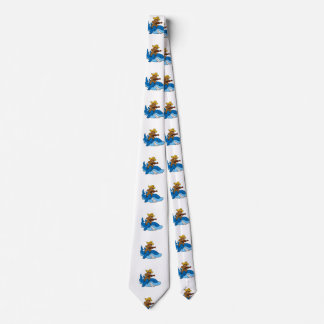 Hick sloth mounted on shark tie