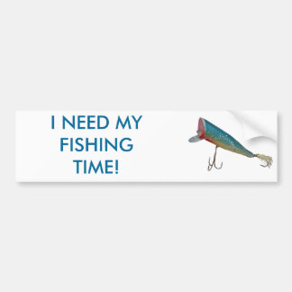 Hickey Do Beachcomber Vintage Fishing Lure Series Bumper Sticker