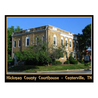 Hickman County Courthouse - Centerville, TN Postcard