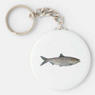 Hickory Shad Watercolor Key Ring
