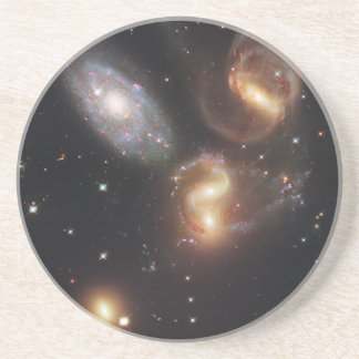 Hickson Compact Group 92 Stephan's Quintet Beverage Coaster