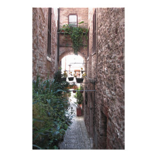 Hidden alley in old village of Spello, Italy Customised Stationery